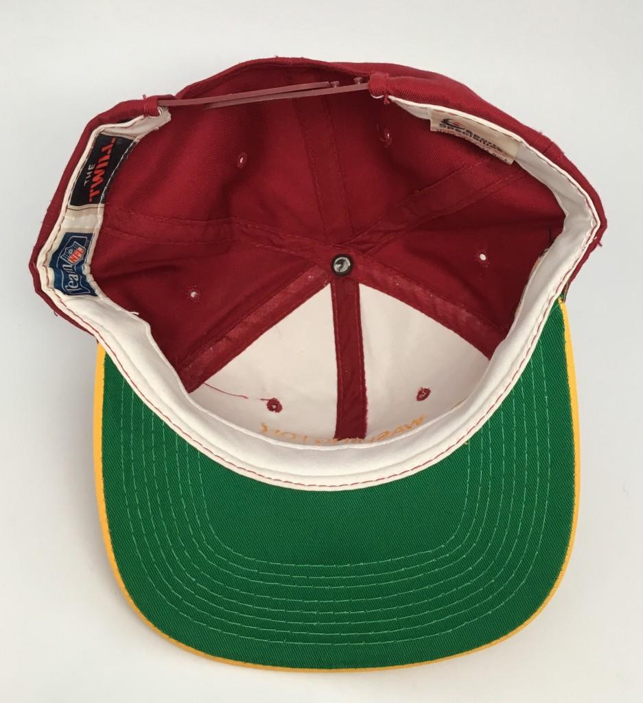 890423fb8d71a 90 s Washington Redskins Sports Specialties Script NFL Snapback Hat ...
