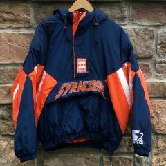 90's Syracuse Orangemen Starter NCAA pullover heavyweight pouch jacket size large