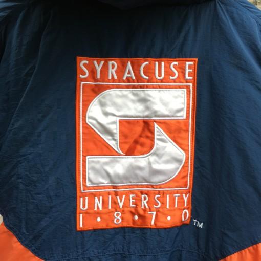90's Syracuse Orangemen Starter NCAA pullover heavyweight pouch jacket size large