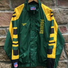 90's Green Bay Packers Reebok Pro Line Authentic NFL windbreaker jacket size large