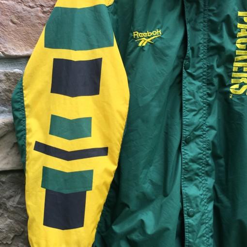 90's Green Bay Packers Reebok Pro Line Authentic NFL windbreaker jacket size large