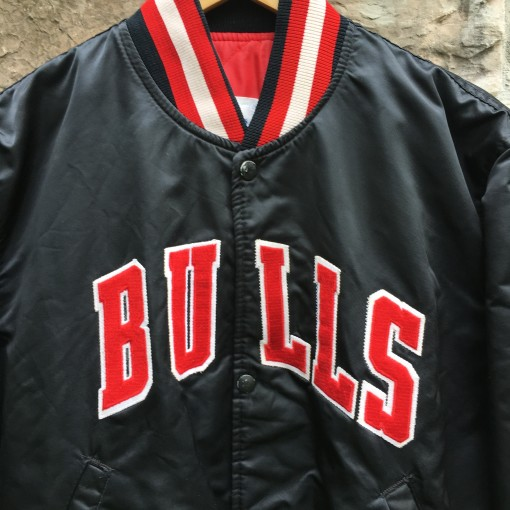 90's Chicago Bulls Starter Satin NBA jacket rare black size medium