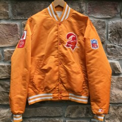 90's Tampa Bay Buccaneers Starter Satin orange NFl Jacket size large steve young #8 custom