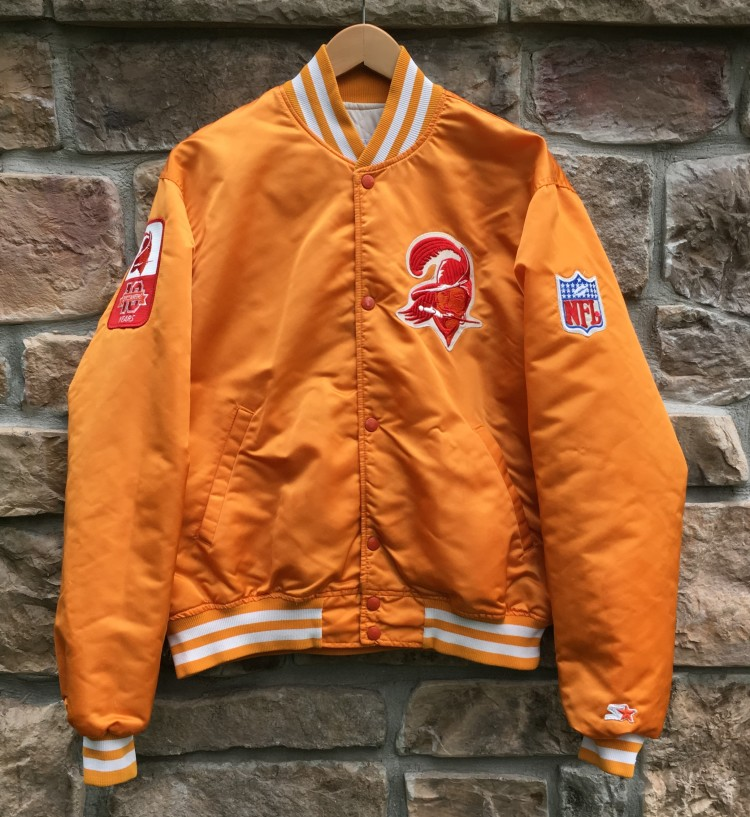 5c53bb77 90's Tampa Bay Buccaneers #8 Custom Starter Satin Jacket Size Large