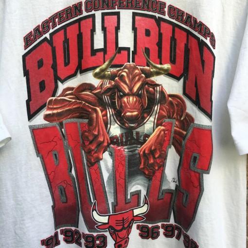 1998 Chicago Bulls Bull Run Eastern Conference Champions NBA shirt size large Starter