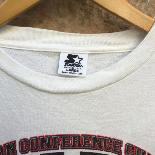 1998 Chicago Bulls Bull Run Eastern Conference Champions NBA shirt size large Starter