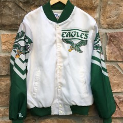 90's Philadelphia Eagles Chalkline Fanimation Jacket size medium original