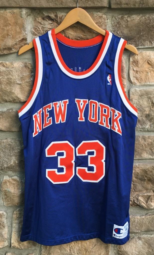 newest 9574f 59b25 1992 Patrick Ewing New York Knicks Champion Authentic NBA Jersey Size 44