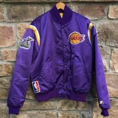 custom vintage starter satin los angeles lakers #8 kobe bryant 2002 NBA all star game jacket size large