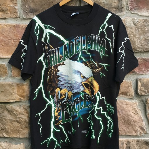 1993 Philadelphia Eagles Lightning eagles salem sportswear NFL t shirt size XL