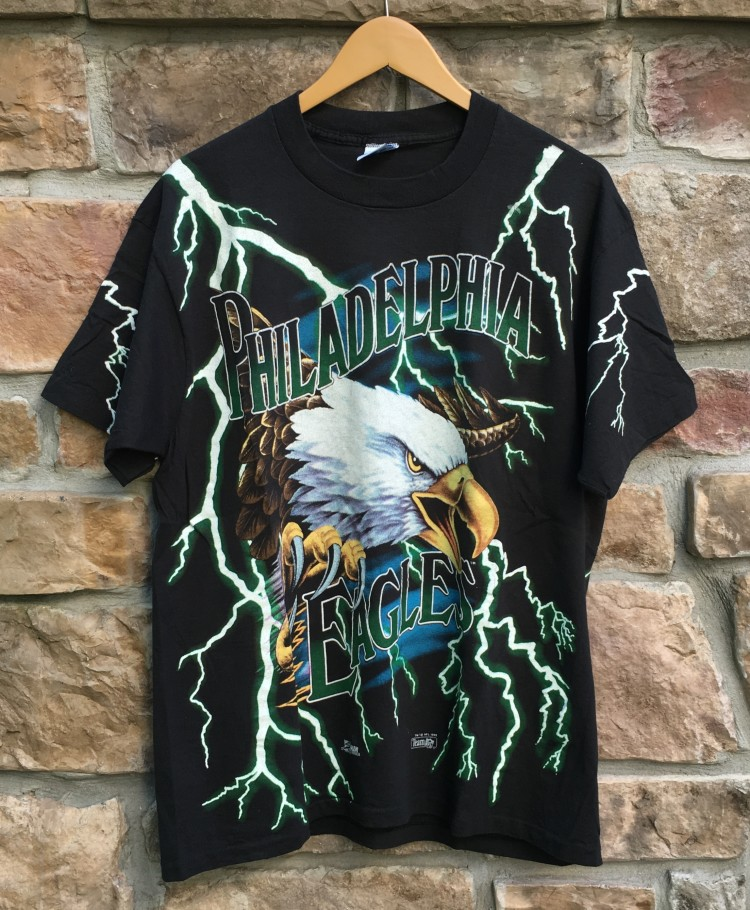 1993 Philadelphia Eagles Lightning eagles salem sportswear NFL t shirt size  XL 634cb7ff9