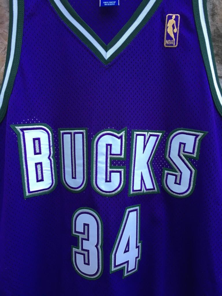 1997 Milwaukee bucks Ray Allen Authentic Champion NBA jersey size 48 XL  Gold logo 50th Anniversary 17a0ca7d9