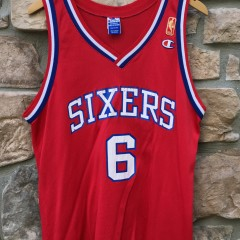 9a06a1fbf0f 1997 Gold Logo 50th Anniversary NBA Julius Erving Philadelphia Sixers  Champion NBA Jersey size 44 large