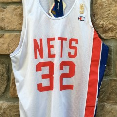 1997 NBA 50th Anniversary New Jersey Nets Julius Erving ABA Champion jersey size 44 large deadstock