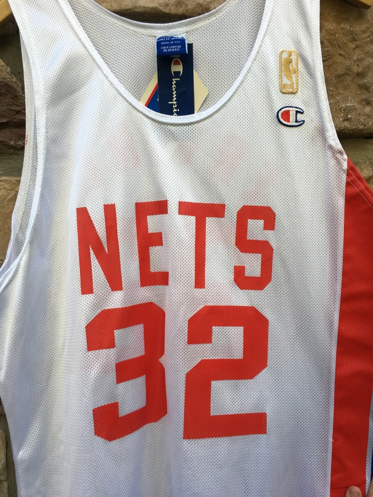 677d51b8 1997 NBA 50th Anniversary New Jersey Nets Julius Erving ABA Champion jersey  size 44 large deadstock