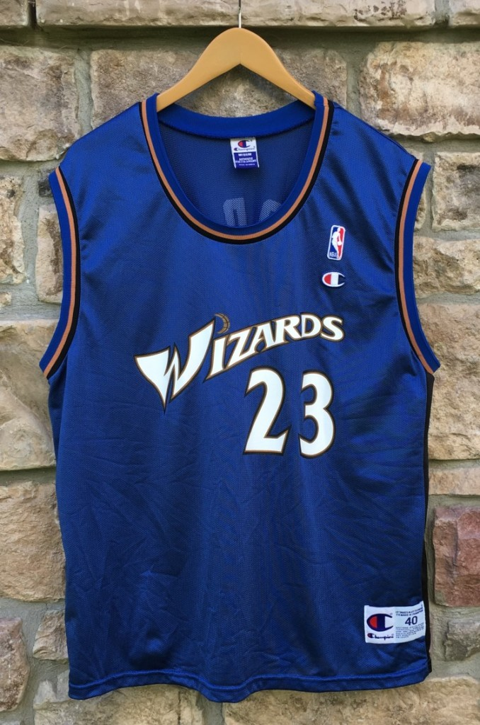 118685e3523 2001 Michael Jordan Washington Wizards Champion NBA jersey size 40 Medium