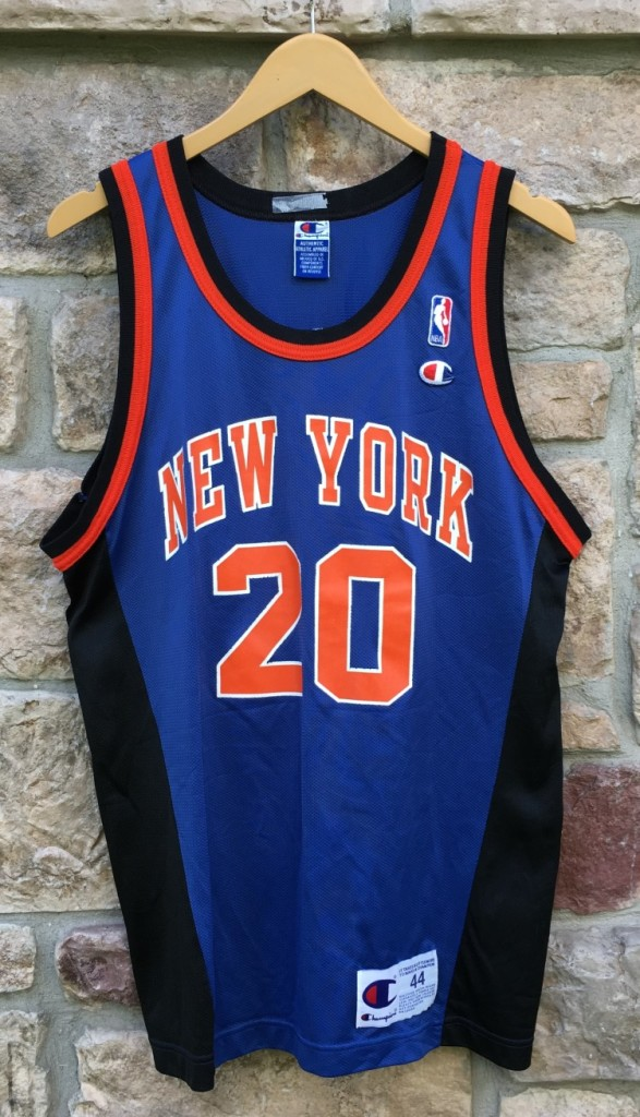 uk availability fb2d3 bfa93 1996 Allan Houston New York Knicks Champion NBA Jersey Size 44