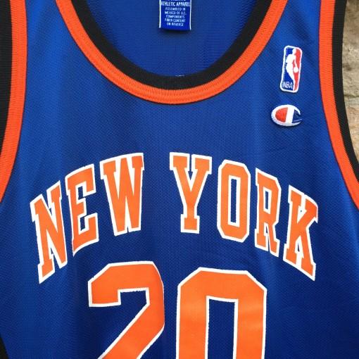 90's Allan Houston New York Knicks Champion NBA jersey size 44 large