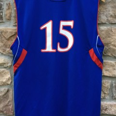 2007 Mario Chalmers Kansas Jay Hawks NCAA basketball jersey Adidas youth XL