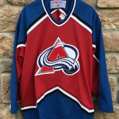 90's Colorado Avalanche CCM NHL hockey jersey maroon size XL