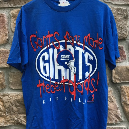 1997 New York Giants Dad NFL tee shirt Riddell size Large