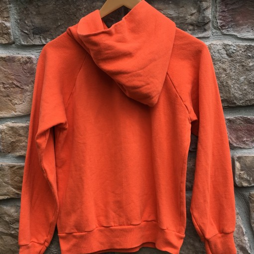 80's Denver Broncos Champion NFL hooded sweatshirt size medium orange crush