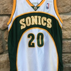 2001-02 Game Worn Pro Cut Team Issued Gary Payton Seattle Super Sonics Reebok Authentic NBA jersey size 44 +2