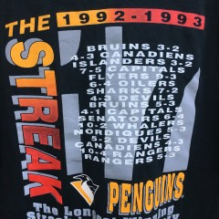 1992-93 Pittsburgh Penguins The streak MLB t shirt size large starter NHL