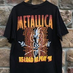 Metallic 1998 Reload Repeat concert tour t shirt size XL