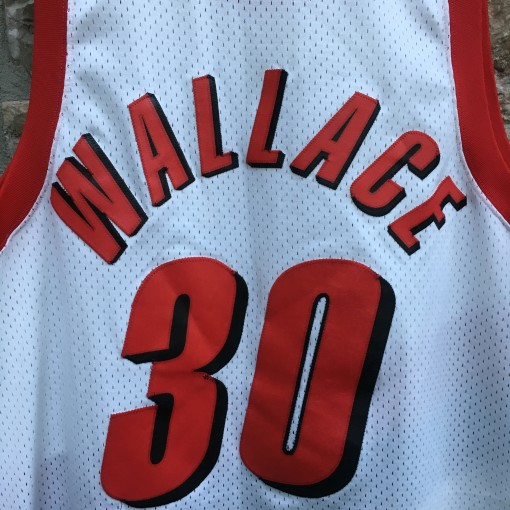 Vintage Rasheed Wallace Portland Trailblazers Nike NBA swingman jersey size 2XL white