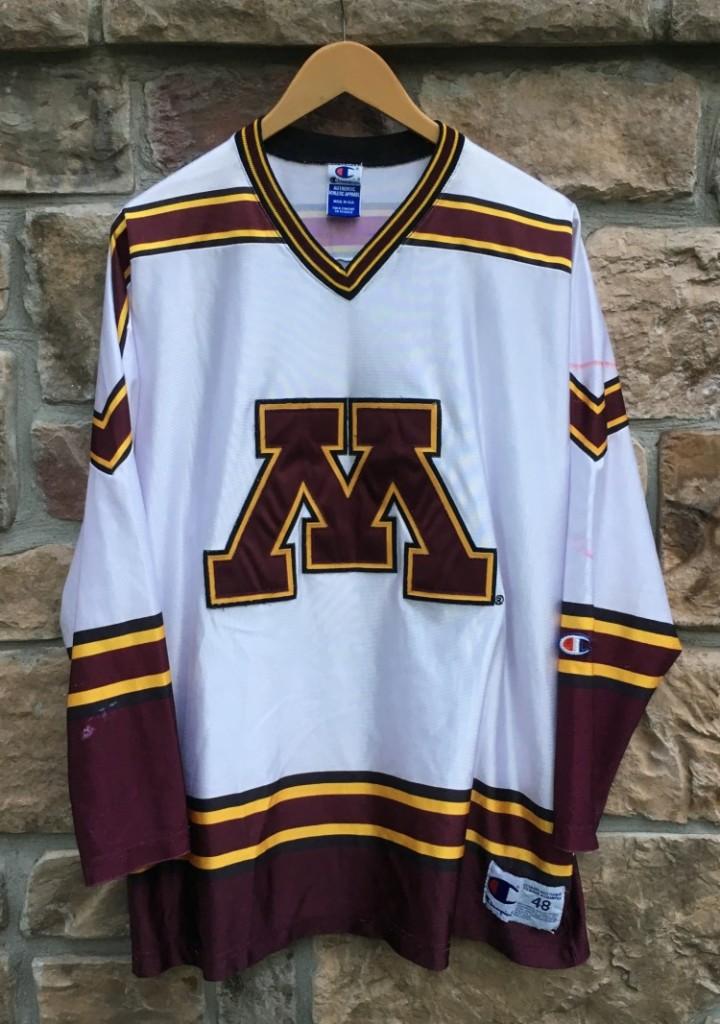 Sports Mem, Cards & Fan Shop Fan Apparel & Souvenirs 2000s University Of Minnesota Gophers Nike Team Hockey Jersey Championship Year
