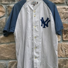 90's New York Yankees Micky Mantle Cooperstown Collection MLB throwback jersey Mirage size Large