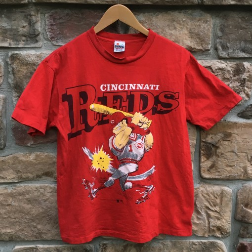 1991 Cincinnati Reds Ben Davis Cartoon MLB t shirt