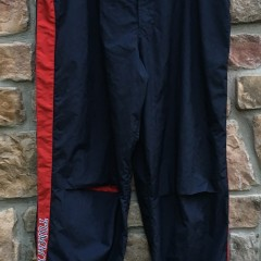 90's Tommy Hilfiger Sport sweat pants warmup size XL navy blue red