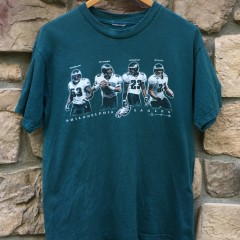2000 McNabb Vincent Douglas Staley vintage Philadelphia Eagles NFL T shirt size medium