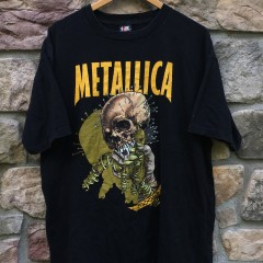 Vintage 1997 Metallica Fixxxer Pushed t shirt Giant size XL Original