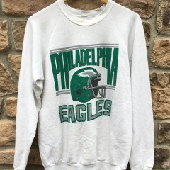 80's Philadelphia Eagles kelly green vintage crew neck sweatshirt size small medium