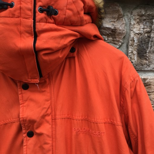 90's Polo Ralph Lauren Sport Polo Sportsman jacket orange size large south park Kenny