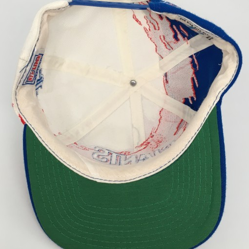 90's New York Giants Logo Athletic Paint splash NFL snapback hat vintage