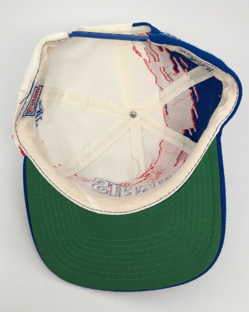 9d41b5f04 90's New York Giants Logo Athletic Paint splash NFL snapback hat vintage