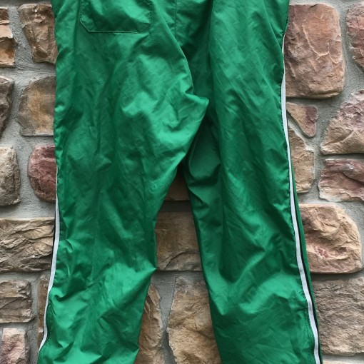 80's Philadelphia Eagles Delong NFL warm up pants kelly green size large vintage