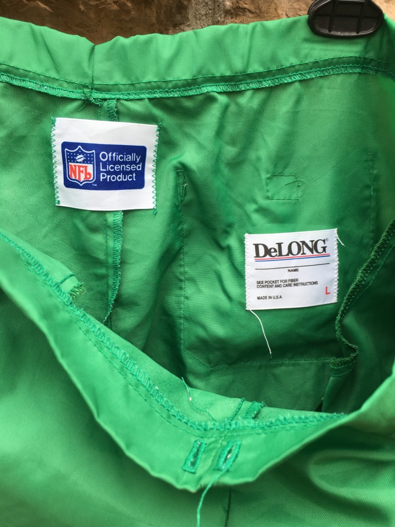 low priced bd555 d6ef9 80's Philadelphia Eagles Kelly Green Delong NFL Warm Up Pants Size Large