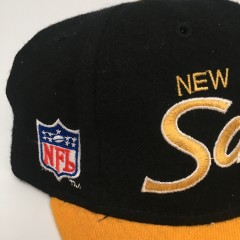 90's New Orleans Saints Sports Specialties NFL Script Fitted hat size 7 vintage OG
