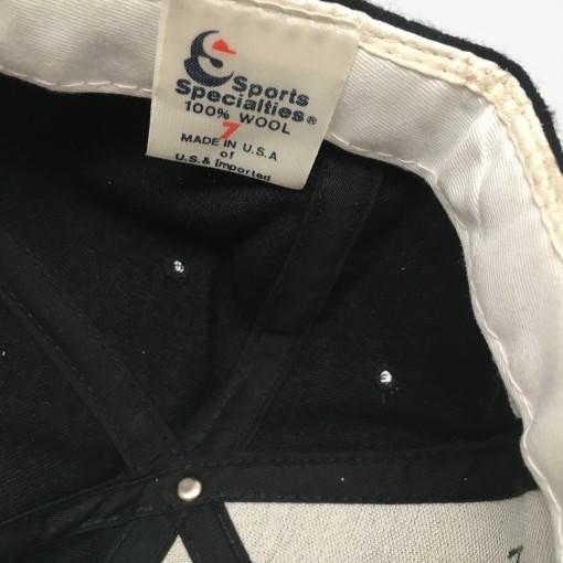 90's New Orleans Saints Sports Specialties NFL Script Fitted hat size 7 vintage OG
