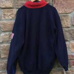 90's Polo Ralph Lauren USA Fleece quarter zip sweatshirt super man size large