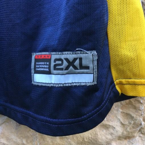 2006 Bashir Mason Drexel Dragons Game Worn Nike NCAA basketball jersey size 2XL blue