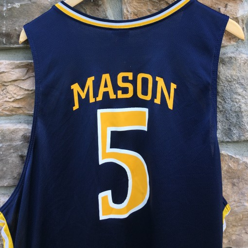 2006 Bashir Mason Drexel Dragons Game Worn Nike NCAA basketball jersey size 2XL blue
