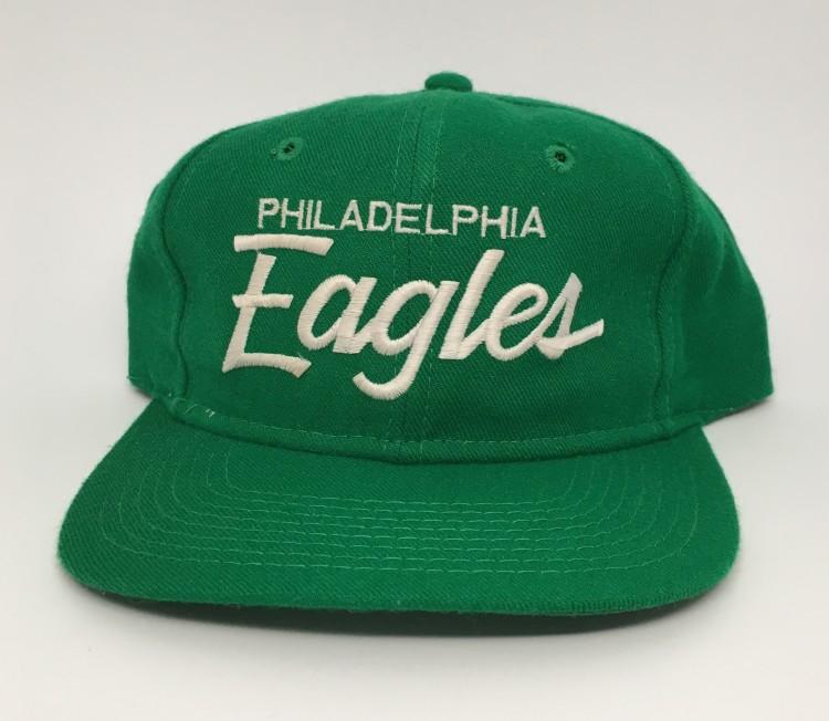 ... coupon for 80s philadelphia eagles sports specialties single line  script snapback kelly green nfl 5162c eb087 27e60d3f36bb
