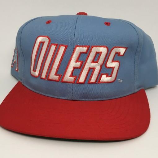 90's Houston Oilers vintage NFL snapback hat