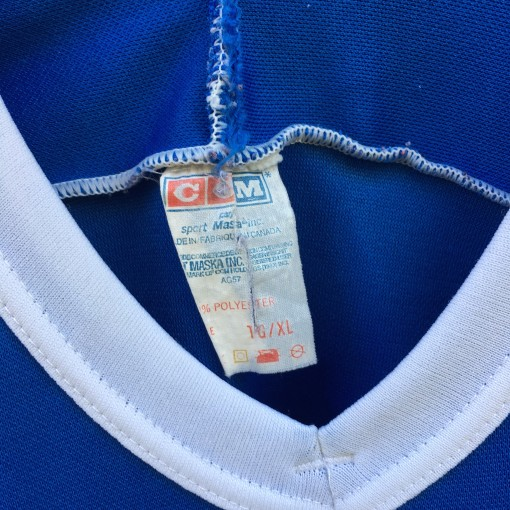 80's Quebec Nordiques CCM NHL Hockey Jersey size XL